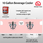 Oil field wife - 10 Gallon Beverage Cooler