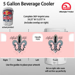 Oil field wife - 5 Gallon Beverage Cooler