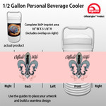 Oil field wife - 1/2 Gallon Personal Beverage Cooler