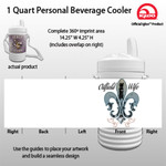 Oil field wife - 1 Quart Personal Beverage Cooler